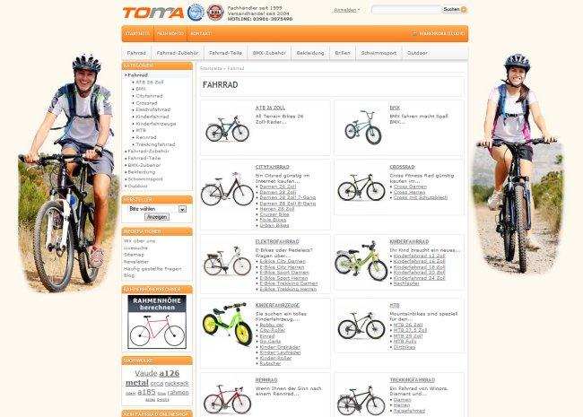 Fahrrad Onlineshop