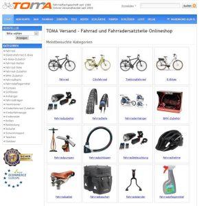 Fahrrad Onlineshop TOMA-Versand