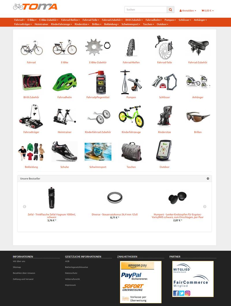 toma-fahrrad.de - Hier geht es zum Fahrrad Onlineshop